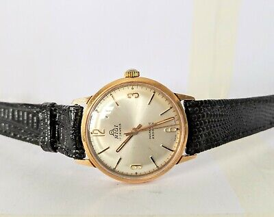 Gents Vintage Riga 17 Jewels 2300 - EC Gold Plated Wind Up Watch - Working