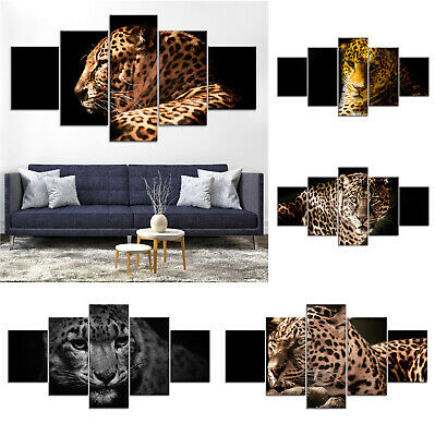 Leopard Wild Animal Canvas Print Painting Framed Home Decor Wall Art ee Poster