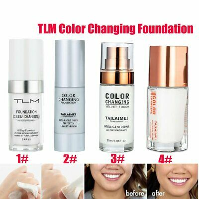 TLM Flawless Color Changing Foundation Makeup Base Face Liquid Cover Concealer W