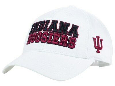 info for 12741 a9620 white IU INDIANA HOOSIERS NCAA Basketball TOW TOP of the WORLD Snapback Hat  NWT