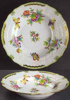 Herend QUEEN VICTORIA (GREEN BORDER) 1501 Rimmed Soup Bowl 6760440