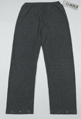 Dna Girls Nwt Size Large L 14 Gray Capri Leggings Rhinestone Accents New