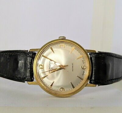 Gents Vintage Perona 17 Jewels Gold Plated Wind Up Watch - Working