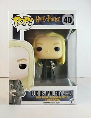 Funko Pop Lucius Malfoy (Holding Prophecy) 40, Harry Potter, Con Protector, Mint