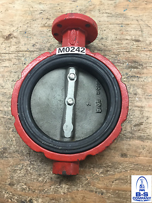 "Butterfly Valve 6"" 150 Wafer ULTRAFLO Bare Stem Iron Body SS Disc EPDM seat"