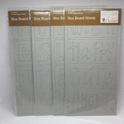 Scrapbook Chipboard words NEW  X4