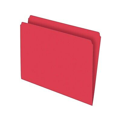 Staples Top-Tab File Folders Straight-Cut Tab Letter Size Red 100/BX 509646