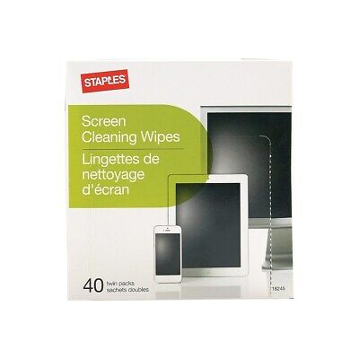 Staples Screen Cleaning Wipes 40/Pack (18245) 811903