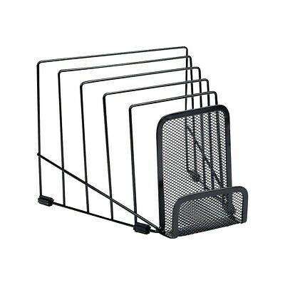 "Staples 4.8/"" Wire Mesh Book Ends Black Pair 225346 25289"
