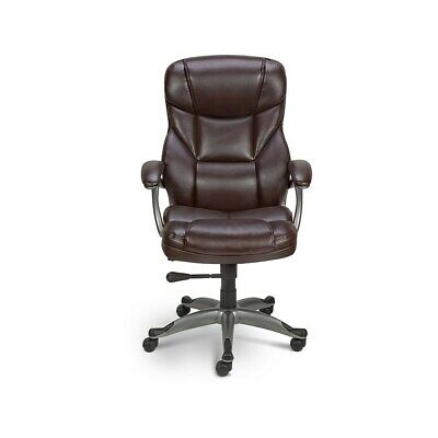 Stupendous Mid Back Top Grain Leather Manager Chair Home Or Office Machost Co Dining Chair Design Ideas Machostcouk