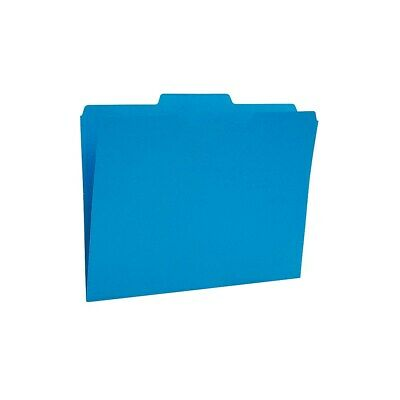 Staples Colored Top-Tab File Folders 3 Tab Blue Letter Size 24/Pack 659787