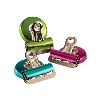Staples #1 Magnetic Bulldog Clips Assorted Colors 3/Pack 422097