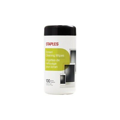Staples Screen Cleaner Wipes 100/Pack (16982) 775488