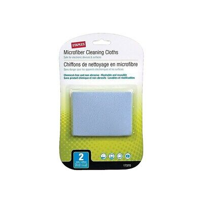 Staples Microfiber Cleaning Cloths 2/Pack (17370) 786399