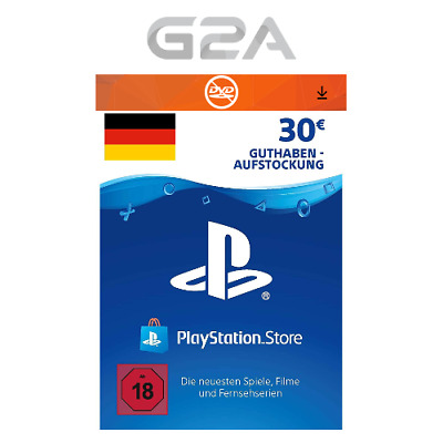 PlayStation Network 30 EURO Card Code [DE] PSN PS4 PS3 - Guthaben EUR 30€ Key