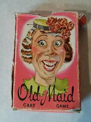 Vintage 1950's Whitman Old Maid Card Game *Complete Set* Great Condition Bad Box