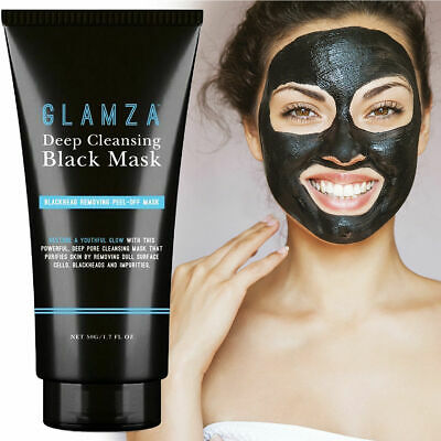 Glamza Blackhead Charcoal Remover Peel Off Facial Cleaning Black Face Mask 50g
