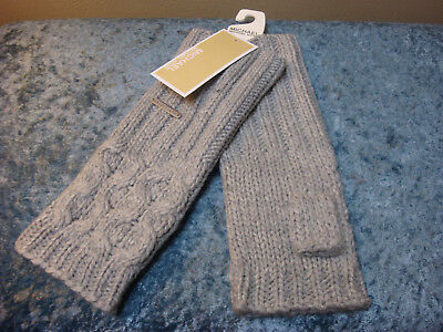 Michael Kors Cable Knit Fingerless Gloves~Grey~NEW!!!