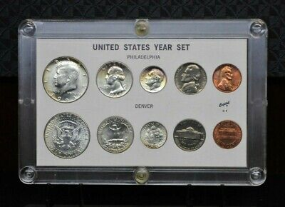 1964 United States Mint Uncirculated Coin Set in Capital Plastics Holder [03DUD]