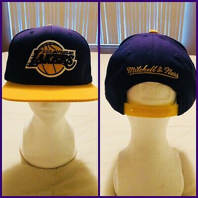 finest selection 363d5 94a6e 🔥EUC🔥Mitchell   Ness NBA Los Angeles Lakers Team Two Tone Snapback Cap Hat