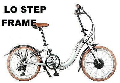 Electric Folding Bike LOW STEP FRAME Cycle Motor home Boats Caravan