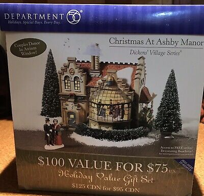 Department 56 Dickens' Village Series Christmas At Ashby Manor Light & Motion