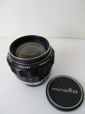 Minolta MC Rokkor-PG 58mm f/1.2 Lens *****Pls Read