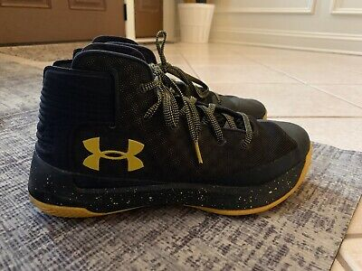 285f68f12ac Men s UNDER ARMOUR CURRY 3ZERO 30 Size 8 Black Taxi Yellow Basketball Shoes