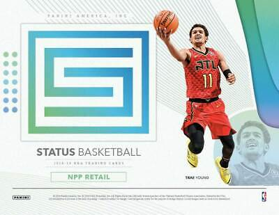 (2) 2018-19 Panini STATUS Basketball NBA Cards 40c BLASTER Box LOT=Auto/Mem OA
