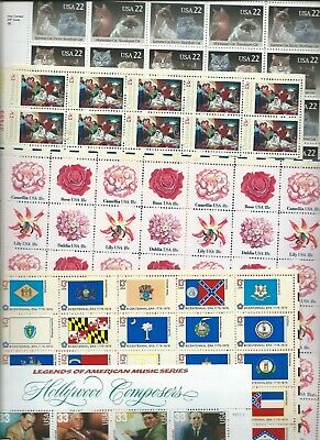 Mint NH US Mixed Sheets Stamps Collection Face Value $87.50