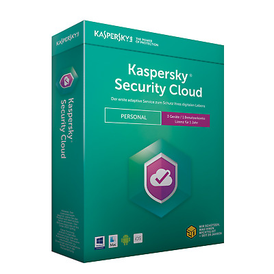 Kaspersky Security Cloud Personal Edition 5 Geräte Mini-Box (Code in der Box)