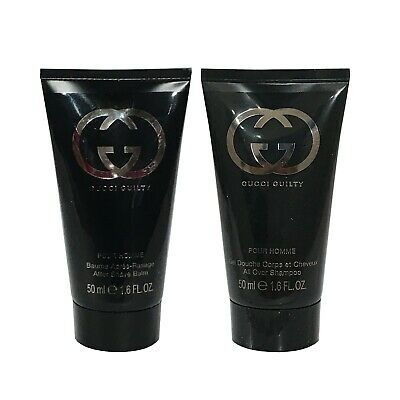 Gucci Guilty Pour Homme All Over shampoo Body Wash 50ml  x2 Men Travel Size
