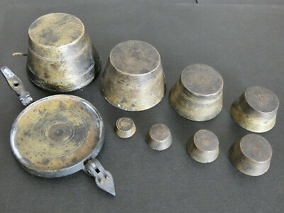 Set of scale weights from the late 1800's antique
