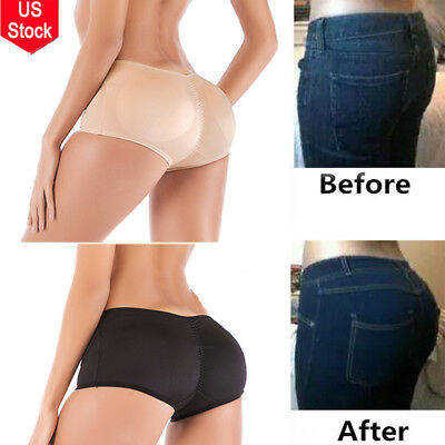 US Women Push-Up Padded Underwear Shapewear Bum Butt Lift Enhancer Brief Panties