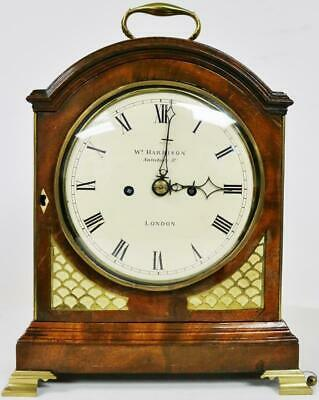 Original Antique C1770 English London Twin Fusee Verge Mahogany Bracket Clock