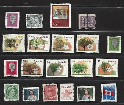 CANADA, lot of 20 used stamps, see scan