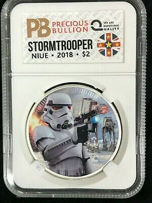 2018 Niue 2$ Star Wars STORMTROOPER 1oz Black Ruthenium Silver Coin #009