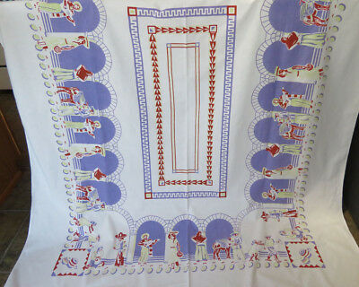 Vintage Print Tablecloth Theme of Mexico