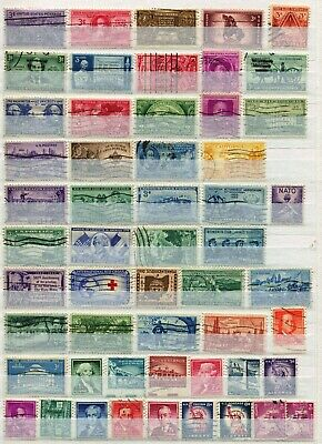 Usa United States Of America 1948 – 1968  ***** 54 Used Stamps