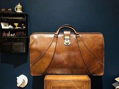 Art Deco Leather Doctors Bag by Victor Luggage