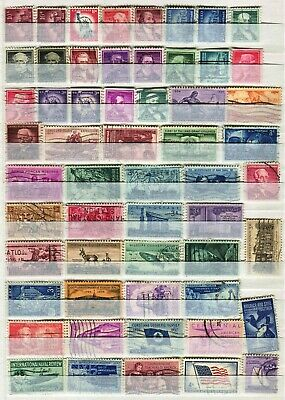 Usa United States Of America 1954 – 1968  ***** 56 Used Stamps