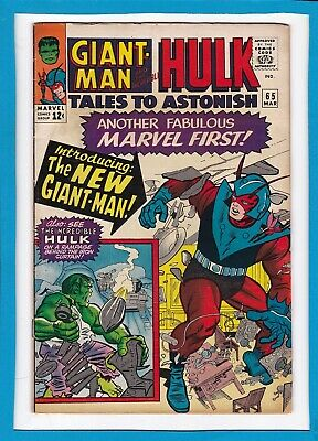 """Tales To Astonish #65_March 1965_Vg_Hulk_Wasp_""""introducing:the New Giant-Man""""!"""