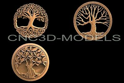 3D STL Models for CNC Router Engraver Carving Artcam Aspire Tree Wood H102
