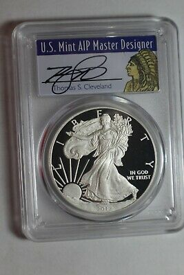 2012 W $1 Proof American Silver Eagle 1oz PCGS PR70DCAM Thomas Cleveland Native