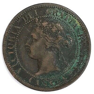 1901 Canada One (1) Cent - Queen Victoria Bronze Coin - 118 YEARS OLD! (DD2610)