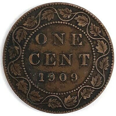 1909 Canada One (1) Cent - King Edward VII - 110 YEARS OLD! (DD2600)