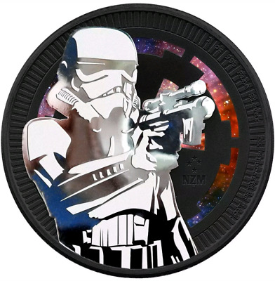 2018 Niue Star Wars STORMTROOPER Colorized/Ruthenium 1oz .999 - Box & COA