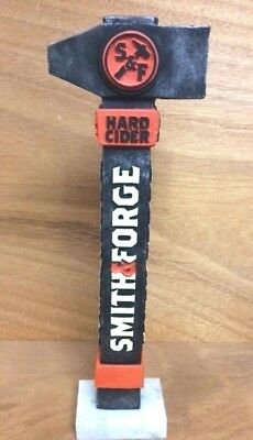 "Smith & Forge Hard Cider Beer Tap Handle Blacksmith Hammer NEW & F/S 11.5"" Tall"
