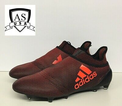 6ad76b2ea Adidas X 17+ Purespeed FG Men Soccer Cleats Black Solar Red S82443 Size 13