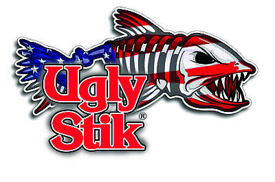 Ugly Stik Sticker Decal Fishing Label Bone Vintage Decal Mechanic Toolbox Usa